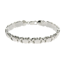 Tiffany Style Sterling Silver Hugs and Kisses Bracelet