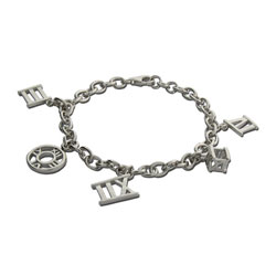Tiffany Inspired Atlas Style Sterling Silver Charm Bracelet