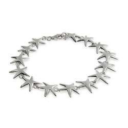 Sterling Silver Happy Starfish Bracelet