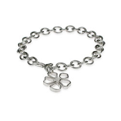 Tiffany Inspired Sterling Silver Flower Charm Bracelet