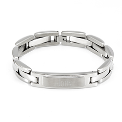 Mens Stainless Steel ID Bracelet