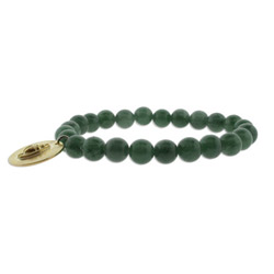 Genuine Jade Bead Strength Karma Bracelet