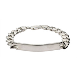 Ladies Sterling Silver Curb Link ID Bracelet