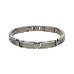 Men's Sophisticated Stainless Steel Rectangular Link Bracelet