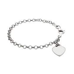 Tiffany Inspired Kids Engravable Heart Tag Bracelet