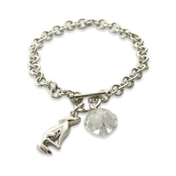 Bellas Twilight Inspired Sterling Silver Charm Bracelet