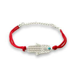 Magical Protection Hamsa Bracelet With Red Cord