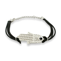 Magical Protection Hamsa Bracelet with Black Cord