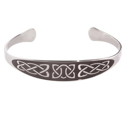 Engravable Celtic Knot Stainless Steel Cuff Bracelet