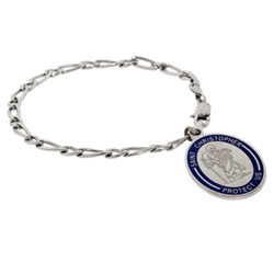 Engravable St. Christopher Charm Bracelet