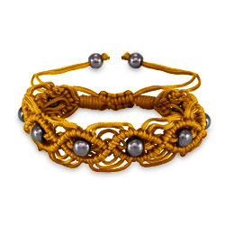 Golden Sunset Macrame Friendship Bracelet