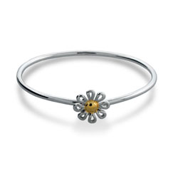 Tiffany Inspired Daisy Bangle in Sterling Silver