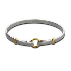Tiffany Style Circle and Loops Bangle Bracelet