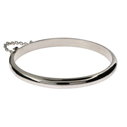 Engravable Sterling Silver Baby Bangle Bracelet
