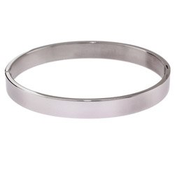 Engravable 8mm Stainless Steel Bangle Bracelet