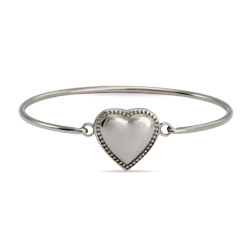 Engravable ID Heart Baby Bangle Bracelet
