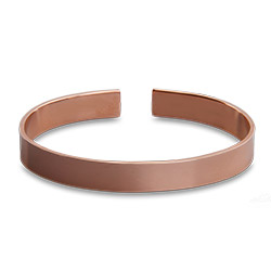 Plain Style Rose Gold Engravable Cuff Bracelet