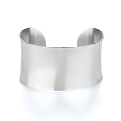 Tiffany Inspired Engravable Wide Cuff Bracelet