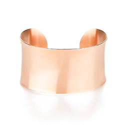 Tiffany Inspired Rose Gold Engravable Wide Cuff Bracelet
