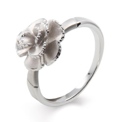 Delicate Frosted Rose Ring