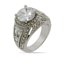 Brilliant Cut CZ Right Hand Ring