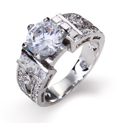 Camille's 1.5 Carat High Prong Set Engagement Ring