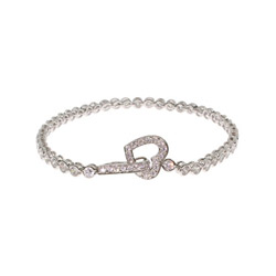 Tiffany Style Bubbles Tennis Bracelet with Heart Clasp