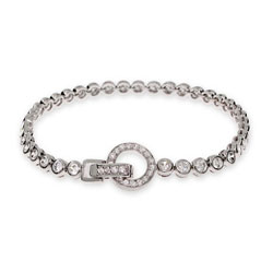 Tiffany Inspired CZ Bubbles Tennis Bracelet with Round Clasp