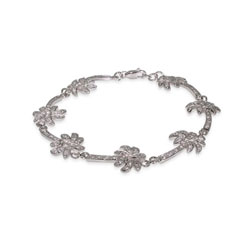 Tiffany Inspired Sterling Silver Palm Tree Bracelet