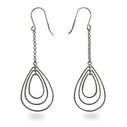Jessica Simpson Inspired Teardrop Sterling Silver Earrings