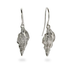 Sterling Silver Seashell Earrings
