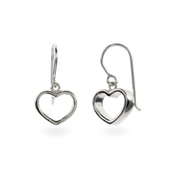 Tiffany Inspired Sterling Silver Geometric Heart Earrings