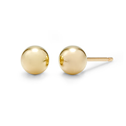 Tiffany Style 4mm 14K Gold Fill Bead Earrings