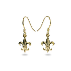 Petite Gold Vermeil Fleur de Lis Earrings