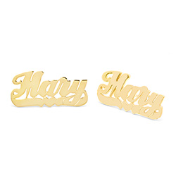 Gold Vermeil Sterling Silver Custom Nameplate Studs