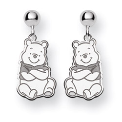 Sterling Silver Disney Winnie the Pooh Earrings - Officially Licensed Disney Jewelry