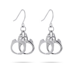 Sterling Silver Handcuff Earrings