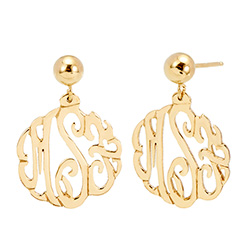 Gold Vermeil Custom Monogram Earrings