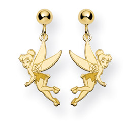 Gold Vermeil Tinkerbell Earrings - Officially Licensed Disney Jewelry
