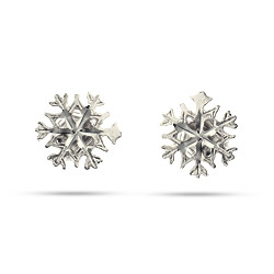 Sterling Silver Petite Snowflake Stud Earrings