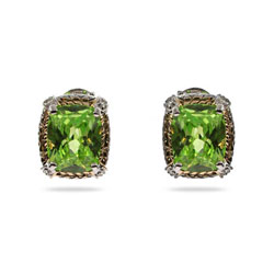 Designer Inspired Brilliant Cushion Cut Peridot CZ Earrings
