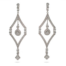 Pandora's Vintage Style Sterling Silver Chandelier Earrings