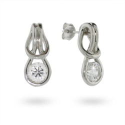 Sterling Silver Eternal Love Knot Earrings