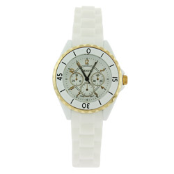 Nautical Theme Boyfriend Watch with Gold Tones