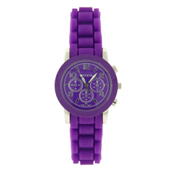 Designer Inspired Vibrant Purple Watch with Jelly Strap