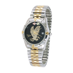 Genuine Black Hills Gold Men's Eagle Watch With Diamond Accent