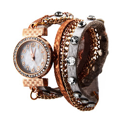 White and Rose Gold Wrap Around Watch