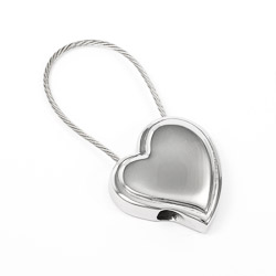 Stainless Steel Heart Keychain
