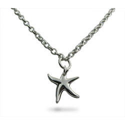 Tiffany Inspired Sterling Silver Starfish Necklace