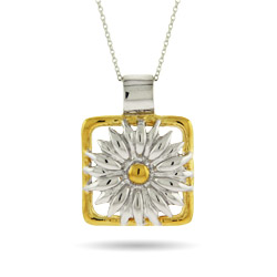 Tiffany Nature Inspired Daisy Pendant in Sterling Silver